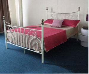 Single Layer Home Luxury White Metal Bed Frames