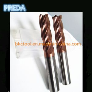 4 Flutes Gold Tisin Coating Carbide Milling Cutters High Quality pictures & photos