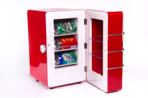 Electronic Mini Fridge DC12V, with AC Adaptor (100-240V) for Can Beverage Exhibition pictures & photos
