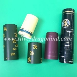 PVC Shrink Capsules with Hot Stamping for Wine Bottle Sealing (31mm X 60mm) pictures & photos