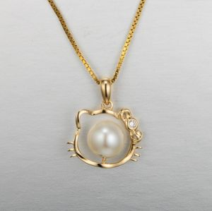 Necklace Fashion Jewelry with Rose Pearl Gold Pendant pictures & photos