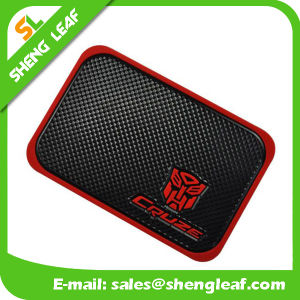 Black Rectangle Shape Anti Slip Mat for Phone Used in Car (SLF-AP027)