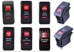 China 12v 20a red led light rocker switch bar arb 5p toggle switch 12v 20a red led light rocker switch bar arb 5p toggle switch mozeypictures Images