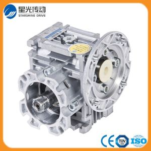 Mini Worm Gearing Arrangement Speed Reducer with Output Shaft and Output Flange pictures & photos
