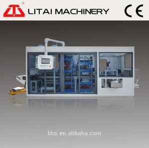 Automatic Three Station Plastic Thermoforming Machine for Cup Lid/Trays/Box/Plate pictures & photos