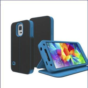 Silicone and Leather Case for Samsung Galaxy S5, Various Color Options Available