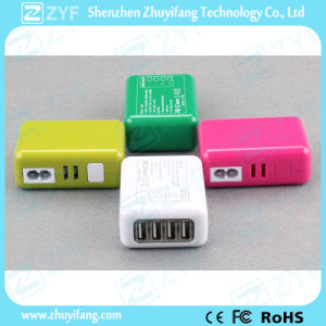 Multi Color Replaceable Plug Travel Adapter with USB Port (ZYF9016)
