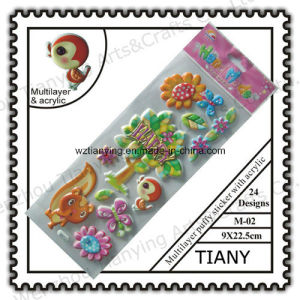 9X22.5cm Layer Puffy Sticker with Acrylic M02 Series