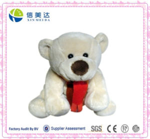 Adorable Scarf Bear Plush Toy 30cm Light Yellow pictures & photos