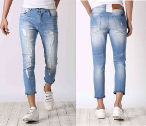 Stretch Skinny Size Men Ripped Jeans for Men (JC3359) pictures & photos
