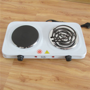 Double Solid Coil Hotplate Kitchen Cooker