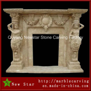 Natural Stone Sculpture Marble Fireplace Limestone Fireplace Surround pictures & photos