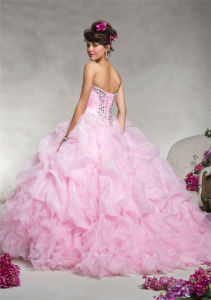 Classic Style Ball Gown Strapless Beaded Prom Dresses, Customized