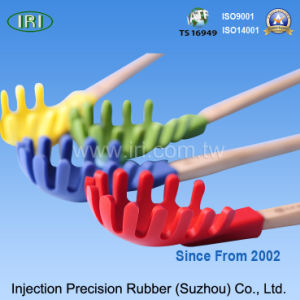 Popular Slotted Spoon with Silicone Rubber