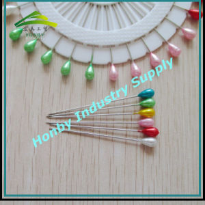 Colored Plastic Teardrop Shape Pearl Head Corsage Pins in Wheel (P160322B)