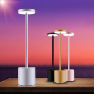 Aluminum Wireless Led Dinner Table Lamp