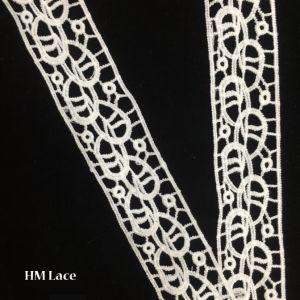 4cm Polyester Narrow Trim Lace Simple Eyelet Trimming Lace Hmw6381 pictures & photos
