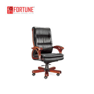 china untique luxury design wood leather timber computer chair