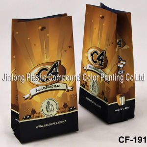 Manufacturer Wholesale Quad-Seal Aluminum Foil Pouch, Plastic Coffee/Tea Packaging Bag with Valve pictures & photos