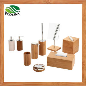 Bamboo Bathroom Set / Bathroom Accessories Set pictures & photos