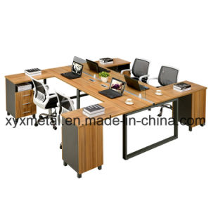MDF Top Metal Table Leg Extensions Office Workstation Staff Desk (GT-P67--six person) pictures & photos