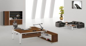 New Design Modern Elegant Warm White Latest Executive Office Table pictures & photos