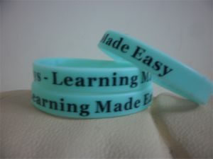 High Quality Customized Personalized Print Rubber Wristband Bracelets P082701