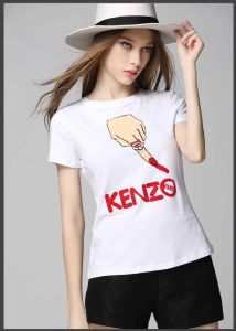 Custom Fashion Cotton Short Sleeve Tee Shirts for Women pictures & photos