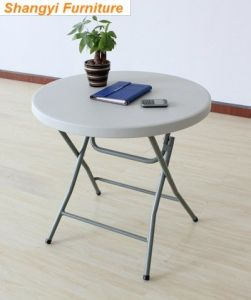 HDPE Plastic Round Folding Table (SY-95Y) pictures & photos