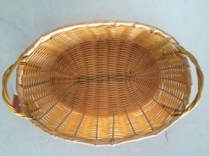 Bamboo Storage Basket with Handle