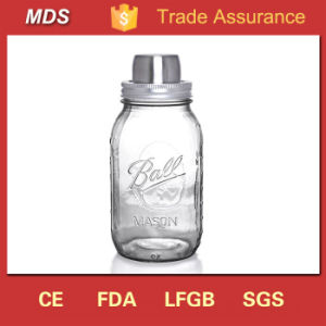 Transparent Ball Mason Jar Cocktail Shaker with Lid pictures & photos