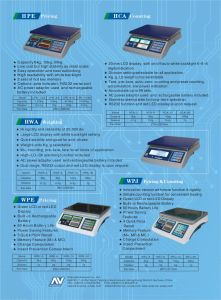 Electronic Weighing Scale Digital Scale of High Precision (HWA) pictures & photos