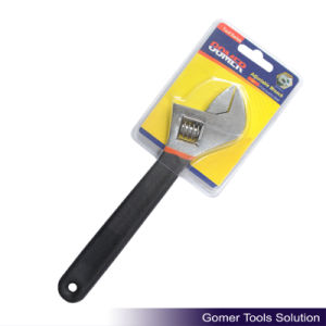Adjustable Wrench with Dipped Handle (T01315)