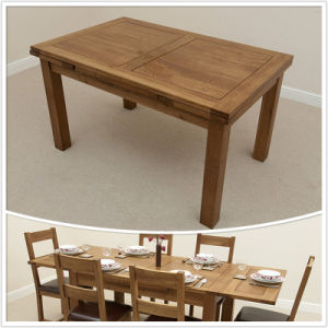 China Dining Room Furniture 3ft X 3ft Solid Oak 4to 6 Extending Dining Table Seats Up To 6 People Extended Hsru0021m China Solid Oak Dining Table Wooden Dining Table