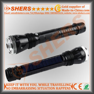 Rechargeable Solar 1W LED Flashlight, Outdoor Light (SH-1918A)