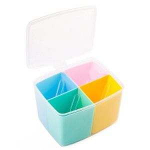 Colorful Kitchen Food Storage Durable Seasoning Box Set Three Round Split Crisper Spice Shaker Condiment Bottles pictures & photos