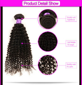 "Unprocessed 7A Aliexpress Hair 4PCS Mongolian Afro Curly Human Hair Weaves Tight Virgin Kinky Curl Extensions 8""-32"" Natural Color pictures & photos"