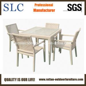 China White Rattan Dining Set Sc A7215