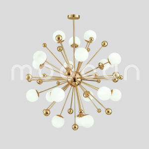 China modern simple golden dandelion shape glass ball chandelier for modern simple golden dandelion shape glass ball chandelier for living room mozeypictures Image collections