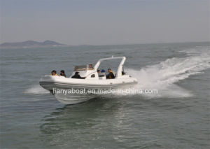 Liya27ft Rib Boats Cabin Rigid Inflatable Boat with Twin Engines pictures & photos