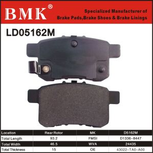 Environment Friendly Brake Pad (D5162M) pictures & photos