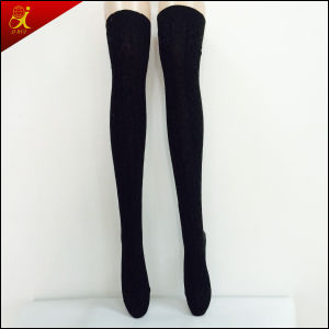 Winter Socks Long Black Stocking