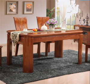 Solid Wood Rectangle Dining Table & Chair