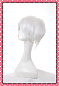 White Color High Temperature Synthetic Hair Wig Short Style 8inches pictures & photos