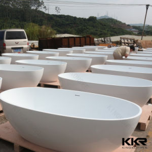 Wholesale Small Bathtubs Artificial Stone Freestanding Bath Tub pictures & photos