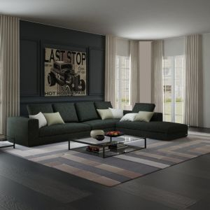 Modern Down Filled Sectional Sofa For Living Room