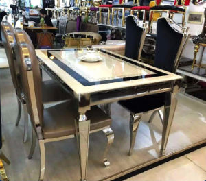 Modern Stainless Steel Marble Dining Table Designs Sets Of Home Furniture