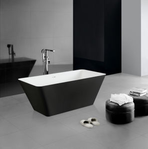 Exceptionnel Black And White Color Two Sided Bathtub Stone Bathtub For Sale