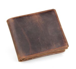 8056r European Style Crazy Horse Leather Wallets Billfold for Men