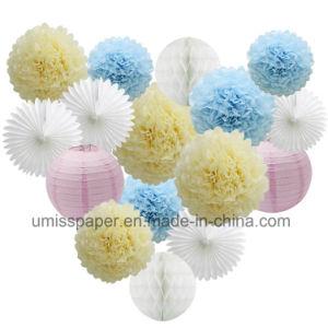 banner paper lantern honeycomb ball pom pom for  birthday party decoration